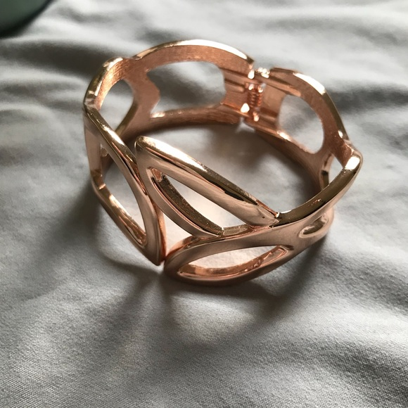 55 off Express Jewelry Express Rose Gold Cuff Bracelet from